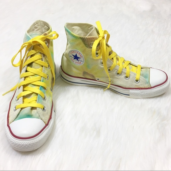 e9c8e5e72b26 Converse Shoes - Converse All Star High Tops Yellow Sunflowers 6